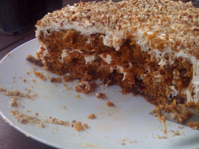 carrot cake after we ate it...