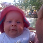 You at the waterpark.  14 weeks old?