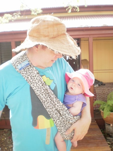 the slingalong baby sling with poogie and dad