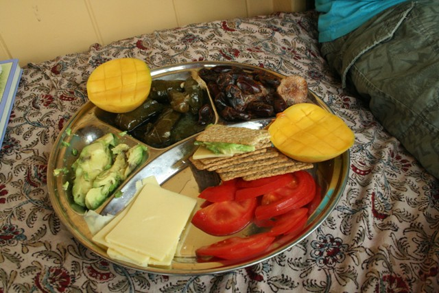 the first supper - our lunch platter ...