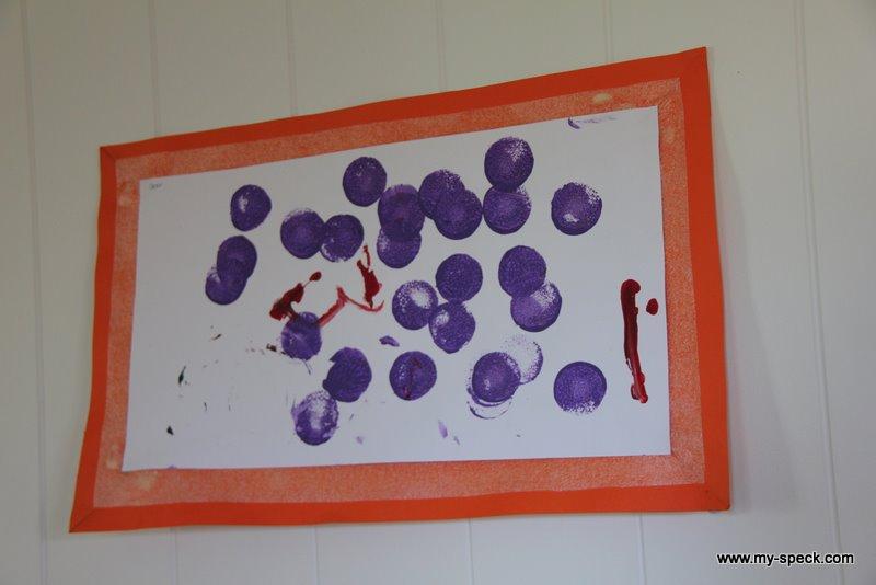 Purple dot painting