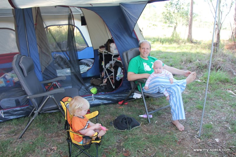 relaxing out front of the new tent.  sc 1 st  my-speck & Camping. Well glamping. In a new tent. Hurrah. my-speck